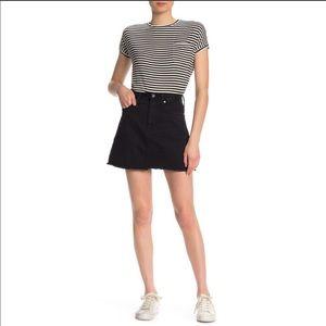 MADEWELL A-Line Miniskirt In Lunar Wash